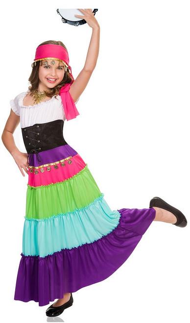 Costume de Gitane de la Renaissance pour Fille