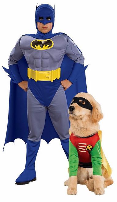 Batman et Robin Couple Costume avec animaux