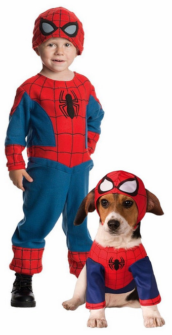 Couple Spiderman Costume avec animaux