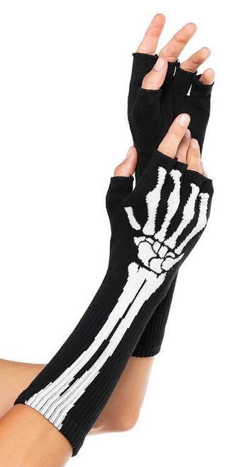 Gants Sans Doigts de Squelette