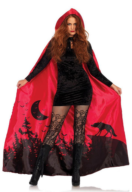 Cape en Satin de Chaperon Rouge