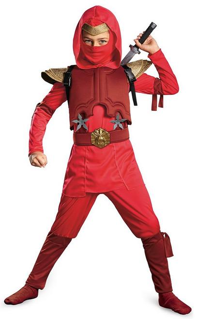 Costume de Ninja rouge feu pour enfant