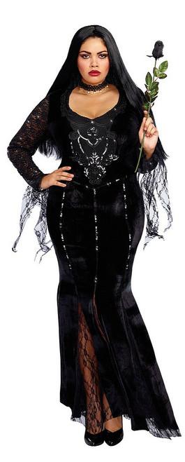 Costume de Sorcière Morticia Taille Plus