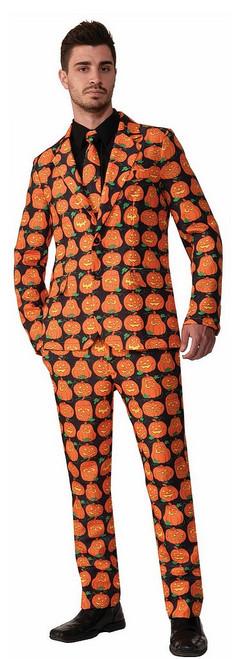 Costume-cravate à motif de citrouilles