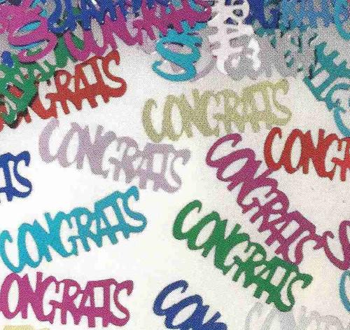 Confettis colorés de félicitations
