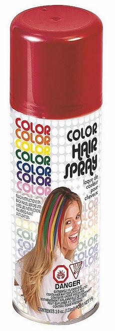 Laque pour cheveux rouge