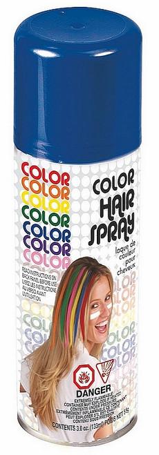 Laque pour cheveux bleue