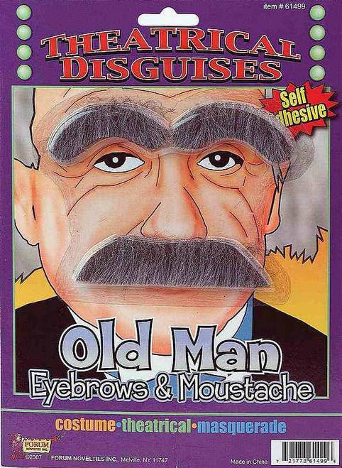 Sourcils et cette moustache de vieil homme