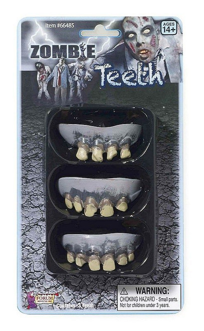 Paquet de 3 Sets de Dents de Zombie Pourrissantes