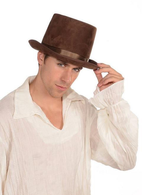Chapeau Haut de forme marron