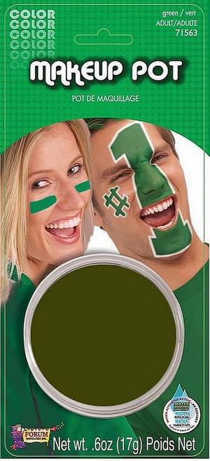 Pot de maquillage vert