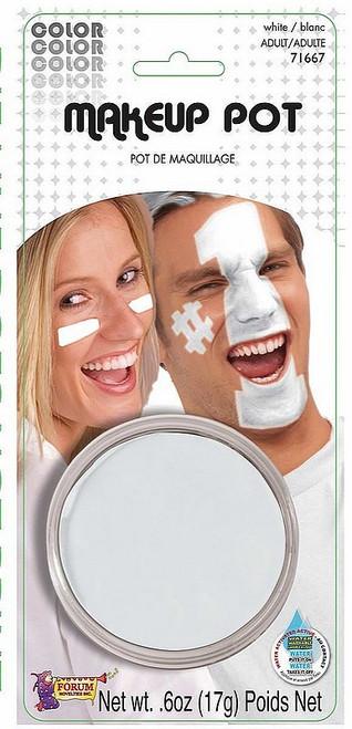 Pot de maquillage blanc
