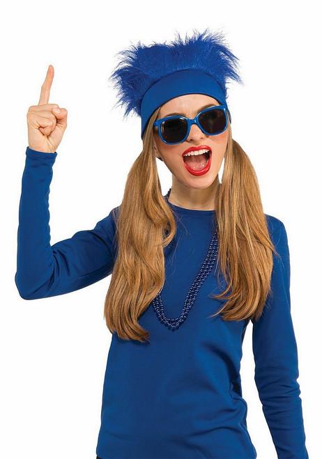 Bandeau Fourrure Bleue
