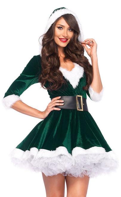 Costume de Mère Noel (Vert)