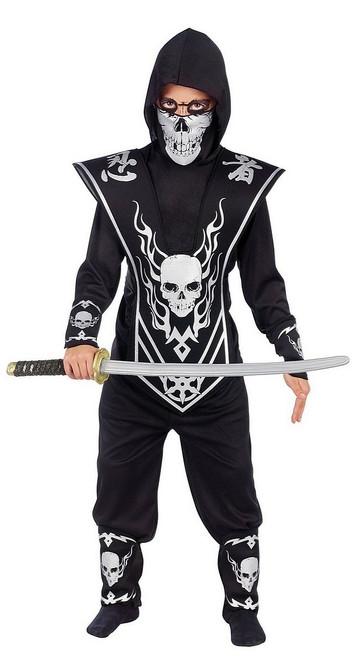 Costume de Seigneur Ninja Crane Noir et Argenté