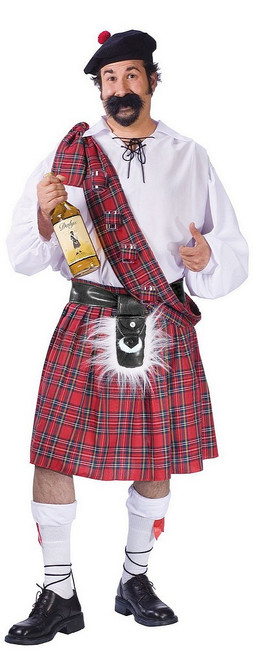 Costume d'Écossais Cul Sec