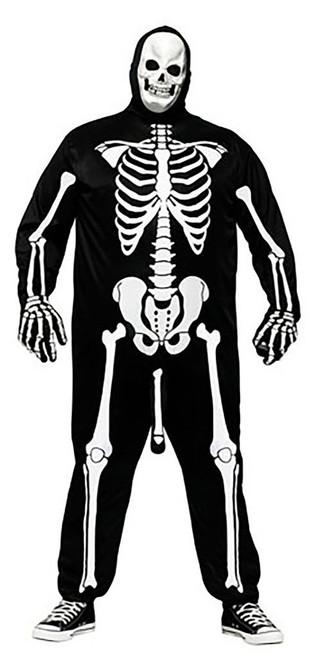 Costume de Squelette Bandant Grande Taille