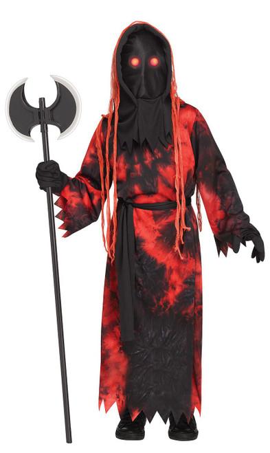 Costume de Bourreau aux Yeux Rouges Clignotants pour Enfant