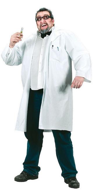 Blouse Blanche de Scientifique Fou Grande Taille
