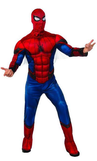 Costume de Spiderman de Luxe avec Torse Musclé pour Adulte