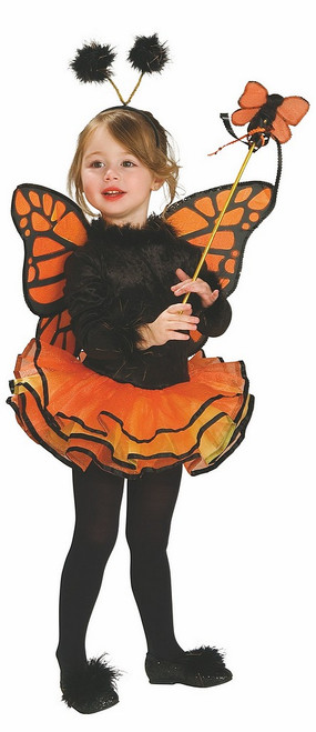 Costume de Papillon Orange pour Bambin