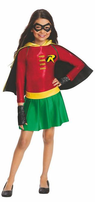 Costume DC de Robin Classique Batman & Robin pour Fille