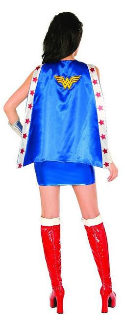 Cape pour Adulte de Wonder Woman avec Doublure Satin