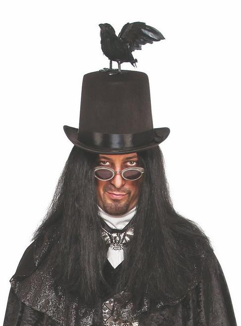 Chapeau Haut de Forme avec Corbeau