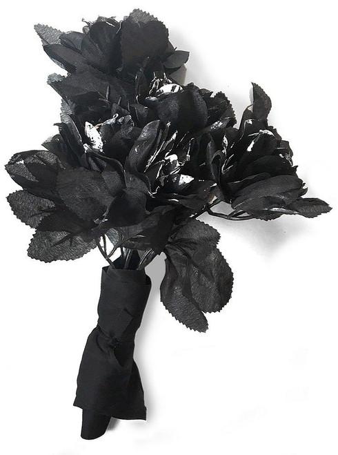 Bouquet de Roses Noires de Mariée Fantôme