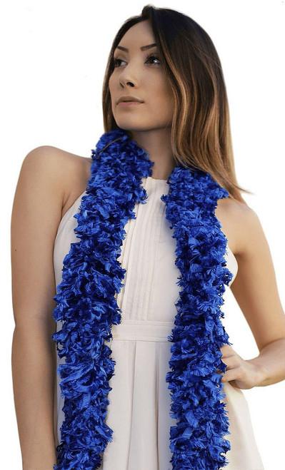 Boa Bleu Sans Plumes