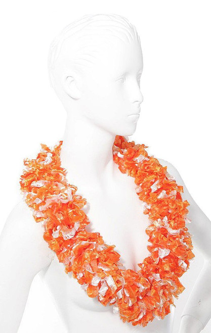 Collier Tiki orange Luau