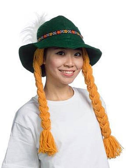 Chapeau Fête de la Brassière avec Tresses