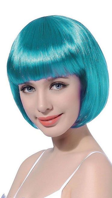 Perruque Bob Courte Turquoise