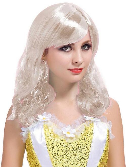 Perruque Courte Blonde et Bouclée