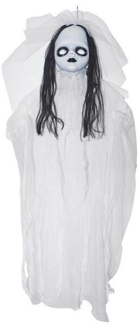 Dérangeante Poupée Illuminée Blanche de 36 pouces