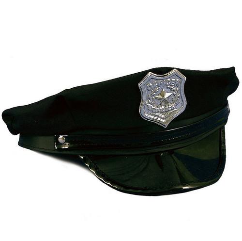 Chapeau de policier noir pour adulte
