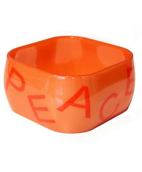 Bracelets Rigides Carrés Noirs et Orange
