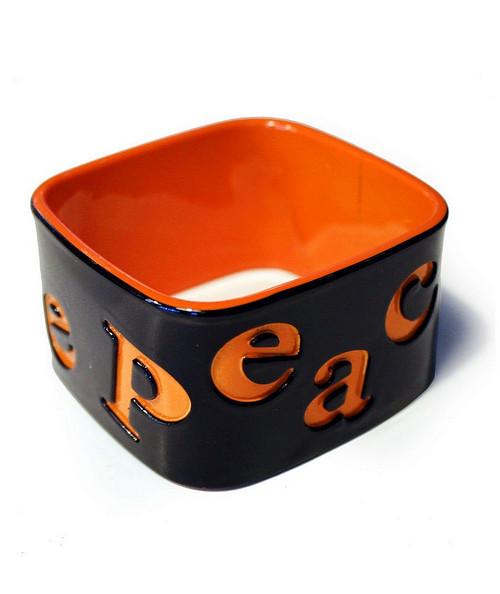 Bracelets Rigides Carrés Orange