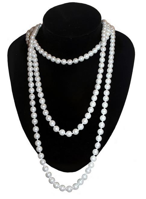 Long collier de perles pour superposition