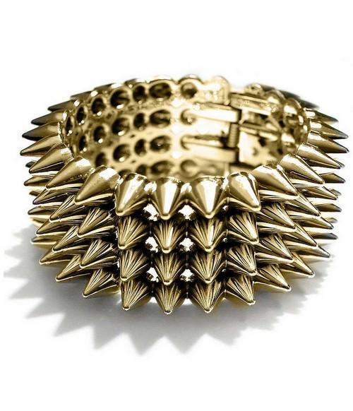 Bracelet Punk Rock Doré