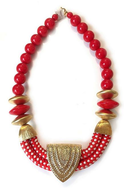 Collier Rouge Éclectique