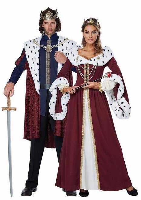 Costume de couple royal médiéval