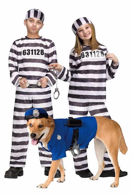 Costume Police & Prisonniers avec Animal