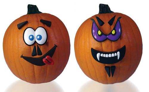 M. Pumpkin Faces Kit Purple Eyes