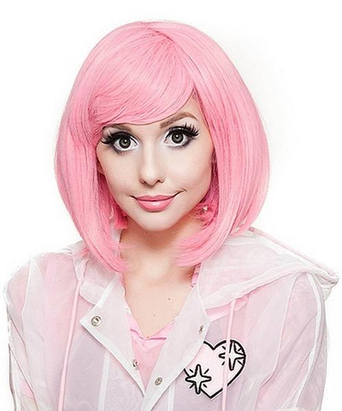 Court Bob perruque rose