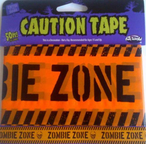 Décoration Ruban d'avertissement Orange Fluo