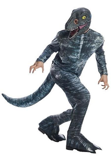 Costume de Vélociraptor Bleu pour Adulte