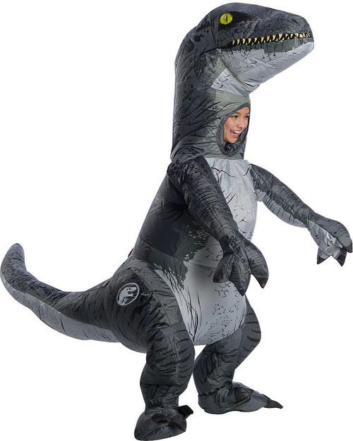 """Costume de Vélociraptor """"Blue"""" Gonflable pour Enfant avec Voix"""
