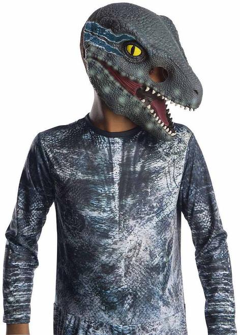 Masque 3/4 pout enfant de Vélociraptor %u00AB Blue %u00BB