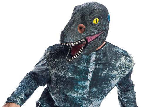 Masque 3/4 pout adulte de Vélociraptor %u00AB Blue %u00BB